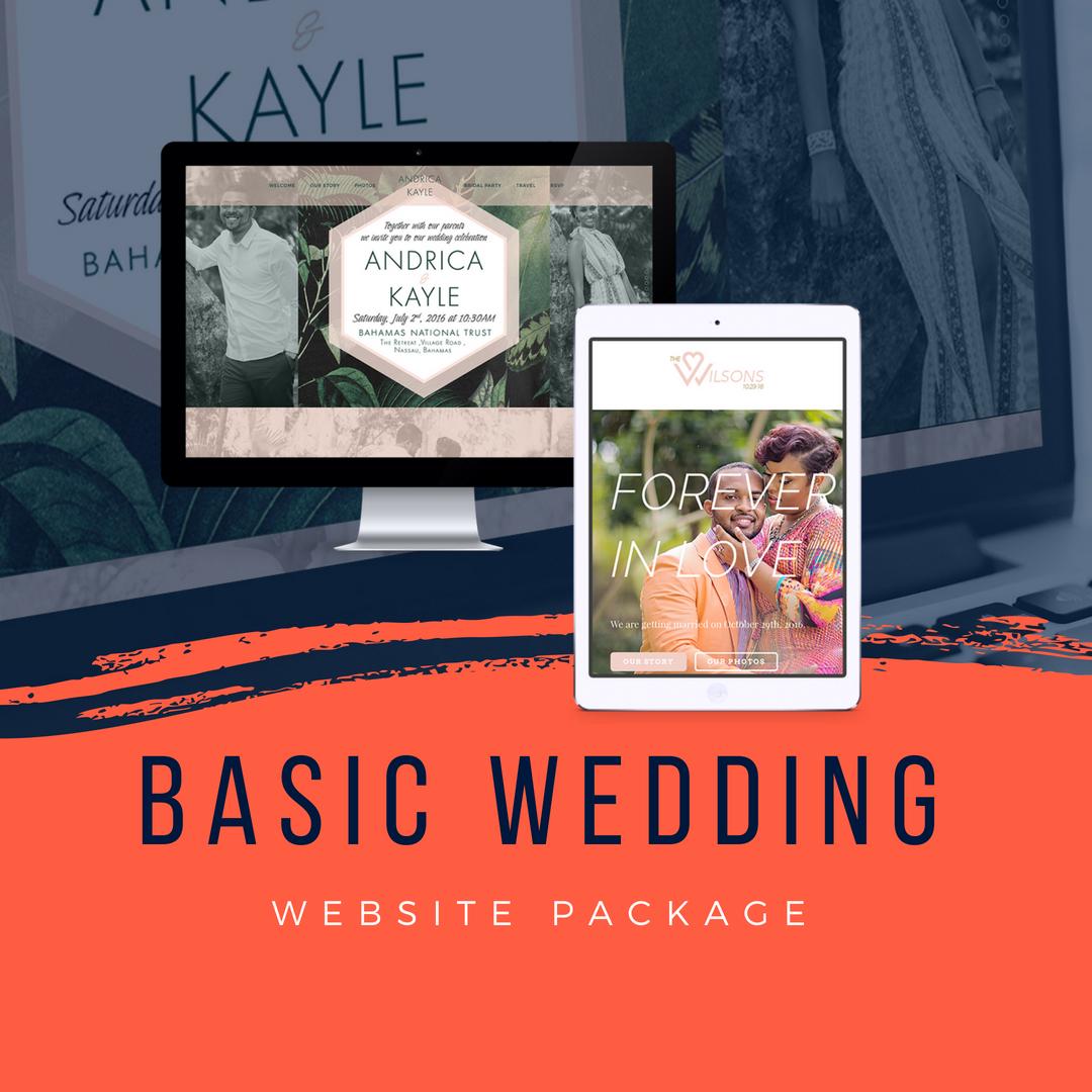 Basic Wedding Website – Treco Designs